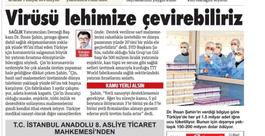 Dr.Ihsan SAHIN Sozcu Gazetesi Roportaji